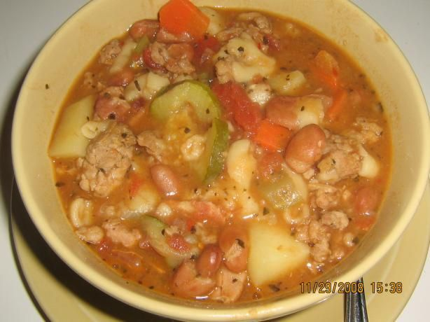 Italian soup) with Italian Sausage from Food.com: Used turkey sausage ...