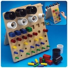Fine Motor Activity Board - #motorskills #sensory #occupationtherapy #activities - http://www.mountainside-medical.com/products/Fine-Motor-Activity-Board.html
