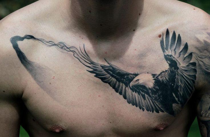 http://tattooideas247.com/bald-eagle/ Bald Eagle Chest Tattoo #BacanuBogdan…
