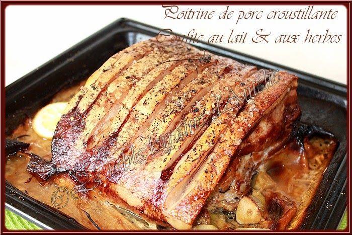 Poitrine de porc fermier croustillante confite au lait et - Cuisiner les girolles fraiches ...