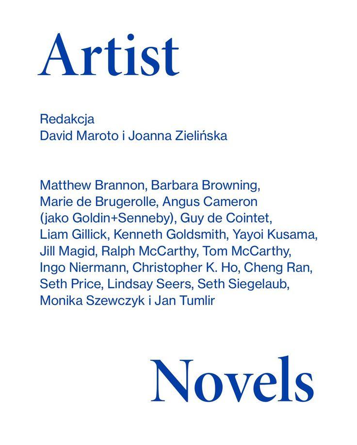 Artist novels / Powieści artystów