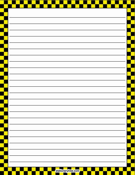 yellow lined paper template
