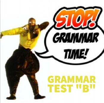 """Grammar Test """"A"""": This grammar test is a great way to prepare students for the real thing! Categories on the test include: Parts of Speech; Subject and Predicate; Sentence Structure; Mechanical Errors; Adjective/Adverbs; Subject-Verb Agreement; Active and Passive Voice; Parallelism; Commonly Confused Words; Punctuating Dialogue; and Capitalization and Citation."""