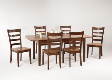 Kensington Chestnut Cinnamon Butterfly Dining Table Chairs By Amesbury Chair