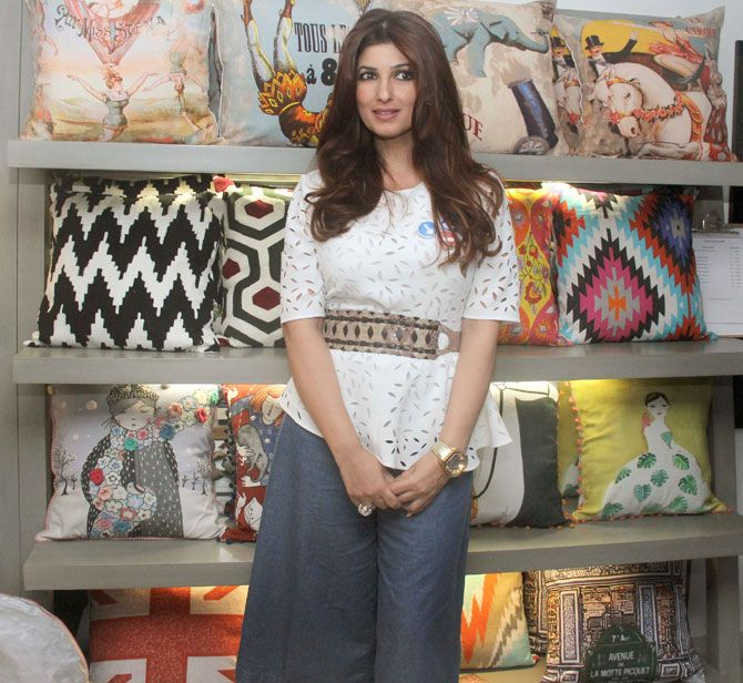 Twinkle Khanna at the launch of a new range of home decor products. #Bollywood #Fashion #Style #Beauty #Hot #WAGS