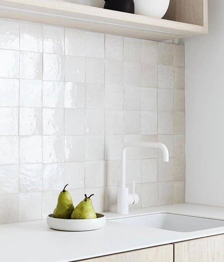 Carole Whiting St Kilda Project Featuring Our Moroccan Zellige 100x100 Handmade Tile Scan In 2020 Mosaic Backsplash Kitchen Contemporary Style Kitchen Kitchen Styling