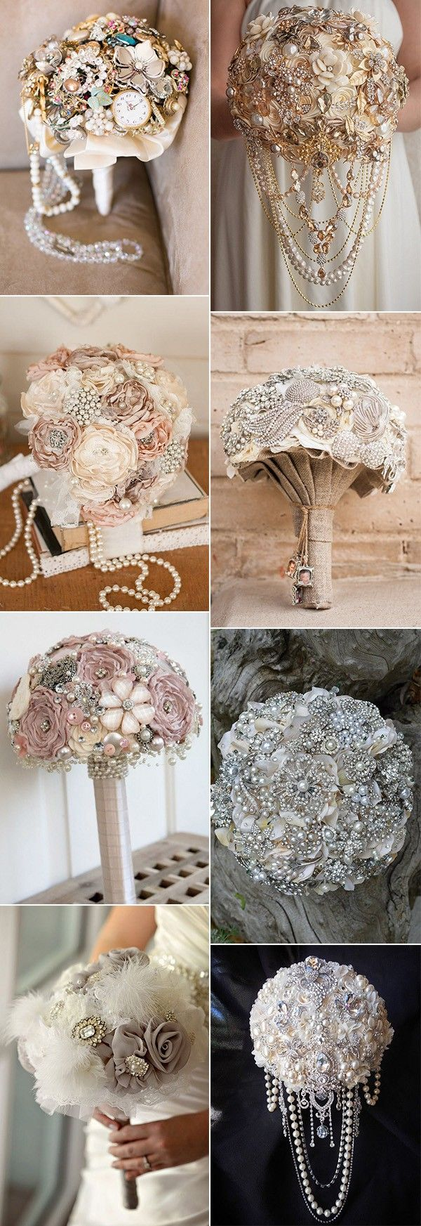 vintage brooch wedding bouquet ideas for 2018 #weddingideas #vintagewedding