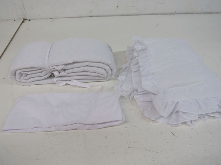 BabyDoll White Eyelet Cradle Bedding Tailored 15 x 33