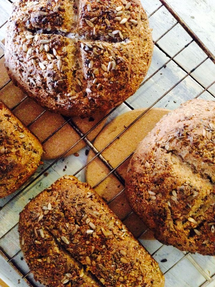 Yummy bread from Bec's Bakery☺ ️ Multi Grain: Rye & Spelt  with sunflower and flaxseeds & walnuts