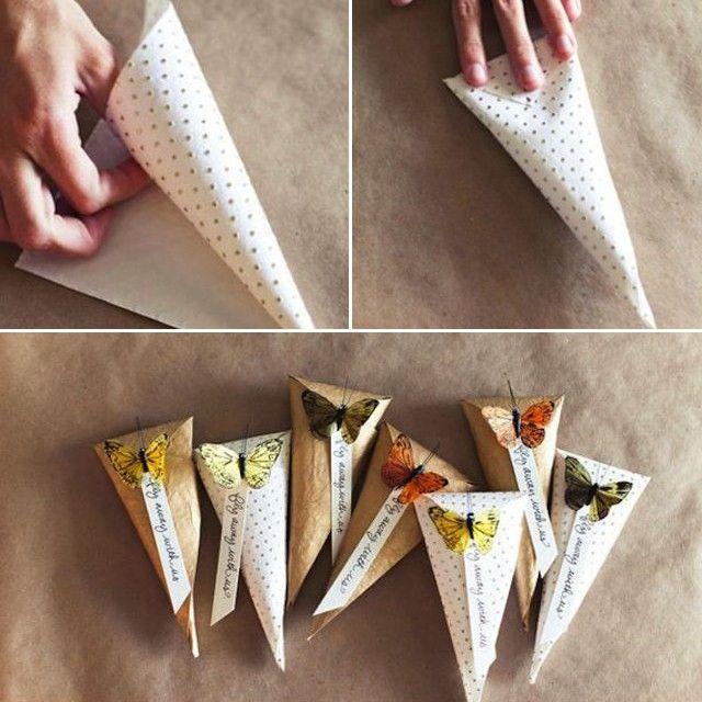 Нужно помнить про классику :) Бумажные пакеты-конусы — простой и интересный…