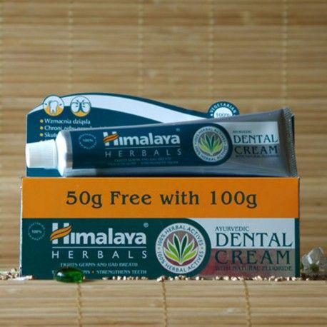 Ajurwedyjska ziołowa pasta do zębów Himalaya Herbals100 g. Ayurvedic Dental Cream with Natural Fluoride Himalaya Herbals