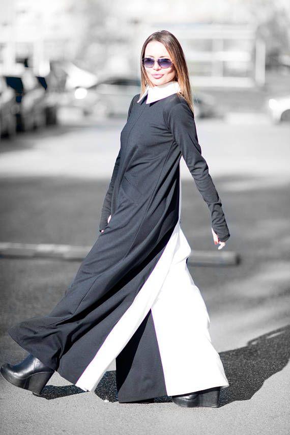 b0b21c01485 Black and White Cotton Jumpsuit Cotton Union Suit Loose