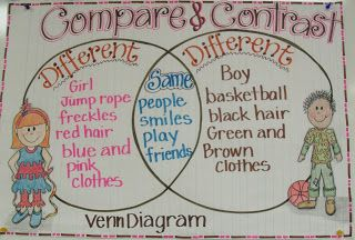 2nd Grade Smarty-Arties taught by the Groovy Grandma!: Compare and Contrast, Plural Nouns anchor chart, fall art