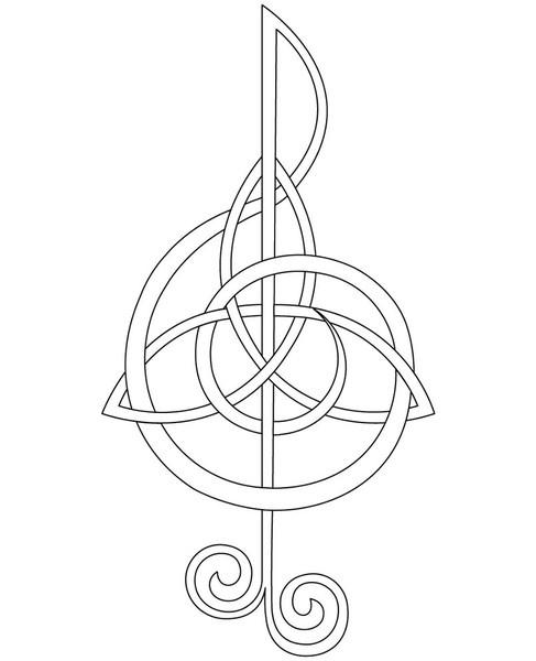 #TattooCeltic Tattoo Knots, Small Celtic Tattoo, Celtic Knots, Treble Clef, Music Tattoo, A Tattoo, Tattoo Ideas Music, Celtic Love Knots Tattoo, Celtic Music