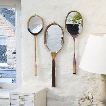 these tennis racket mirrors could most certainly be a D.I.Y ! right?