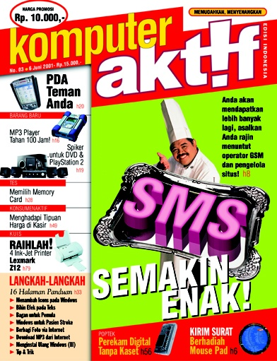 "In early 2001, Indonesian telecommunication operators started inter-carrier messaging services. Before they served ""SMS lintas-operator"" consumers of Telkomsel use ICQ and a South African website to send SMS to consumers of Indosat and XL.  •••  Ed.03 SMS Semakin Enak!"
