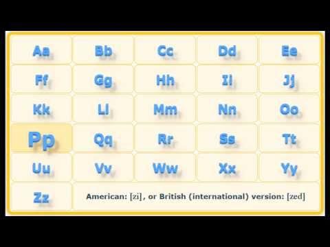 Английский алфавит с произношением и транскрипцией