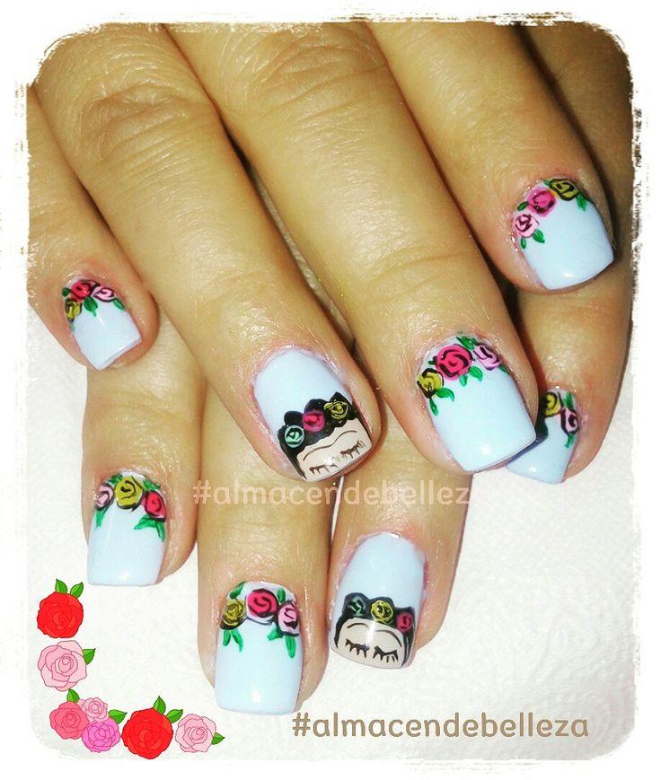 Frida Kalho nailart