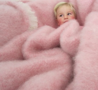 Pink Kid Mohair Blanket