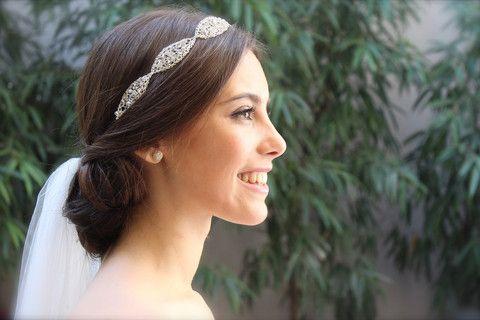Tocados de Novia Bridal Headpieces La Cala hilos de plata - Tocados de novia originales