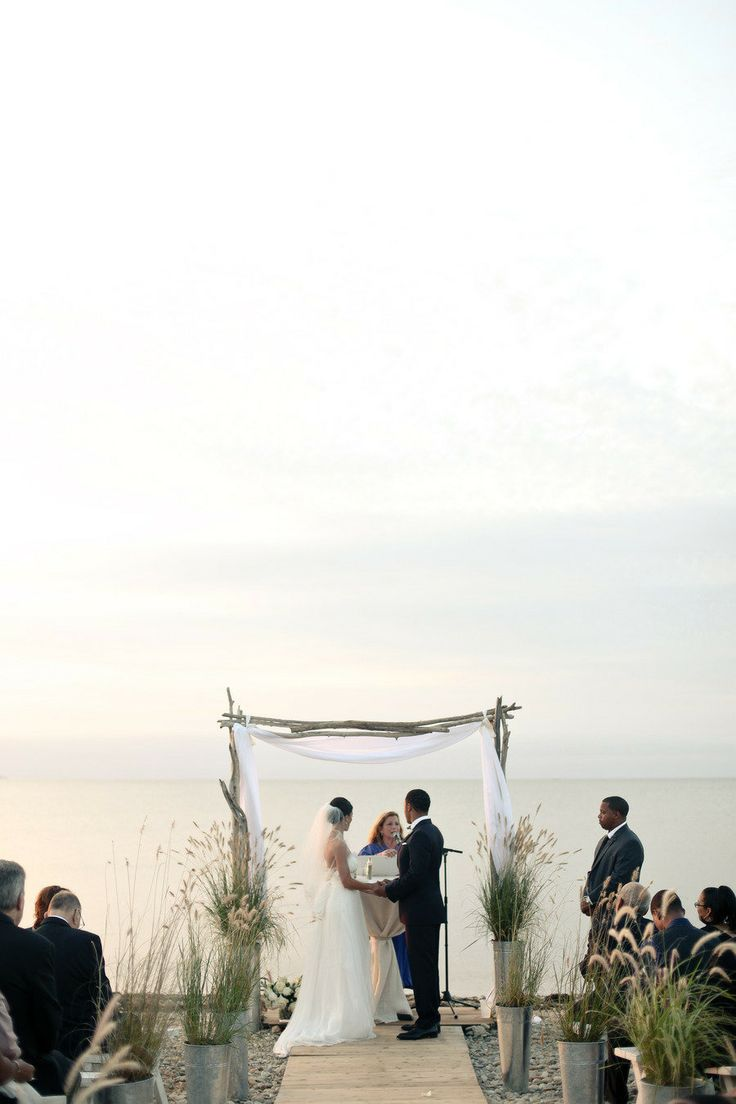 Navy Beach Wedding from Stylish & Hip Weddings  Read more - http://www.stylemepretty.com/new-york-weddings/montauk/2013/05/07/navy-beach-wedding-from-stylish-hip-weddings/