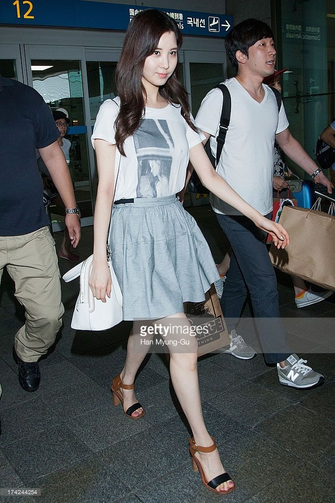 Seohyun of South Korean girl group Girls' Generation is seen upon arrival at Incheon International Airport on July 22, 2013 in Incheon, South Korea.