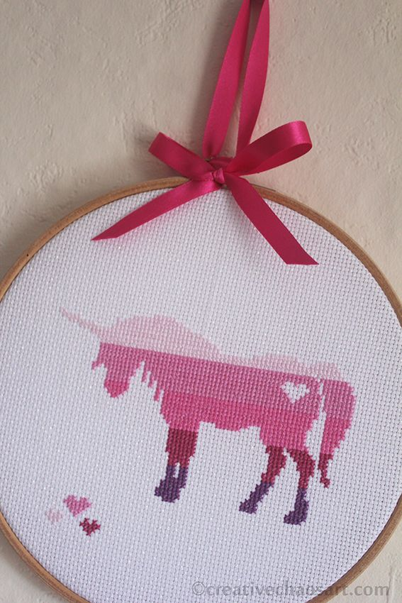 I found the chart for this unicorn cross stitch over on Do Small Things With Love , and I thought it would make a lovely gift for a un...