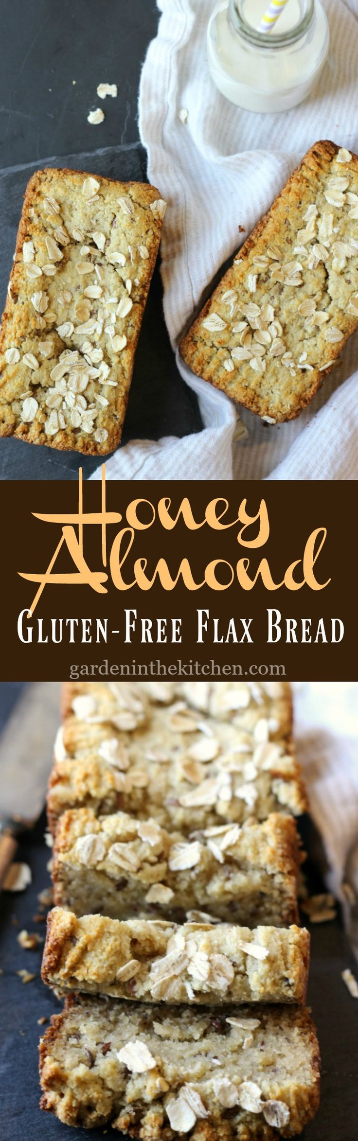 Honey Almond Gluten-Free Flax Bread | Garden in the Kitchen