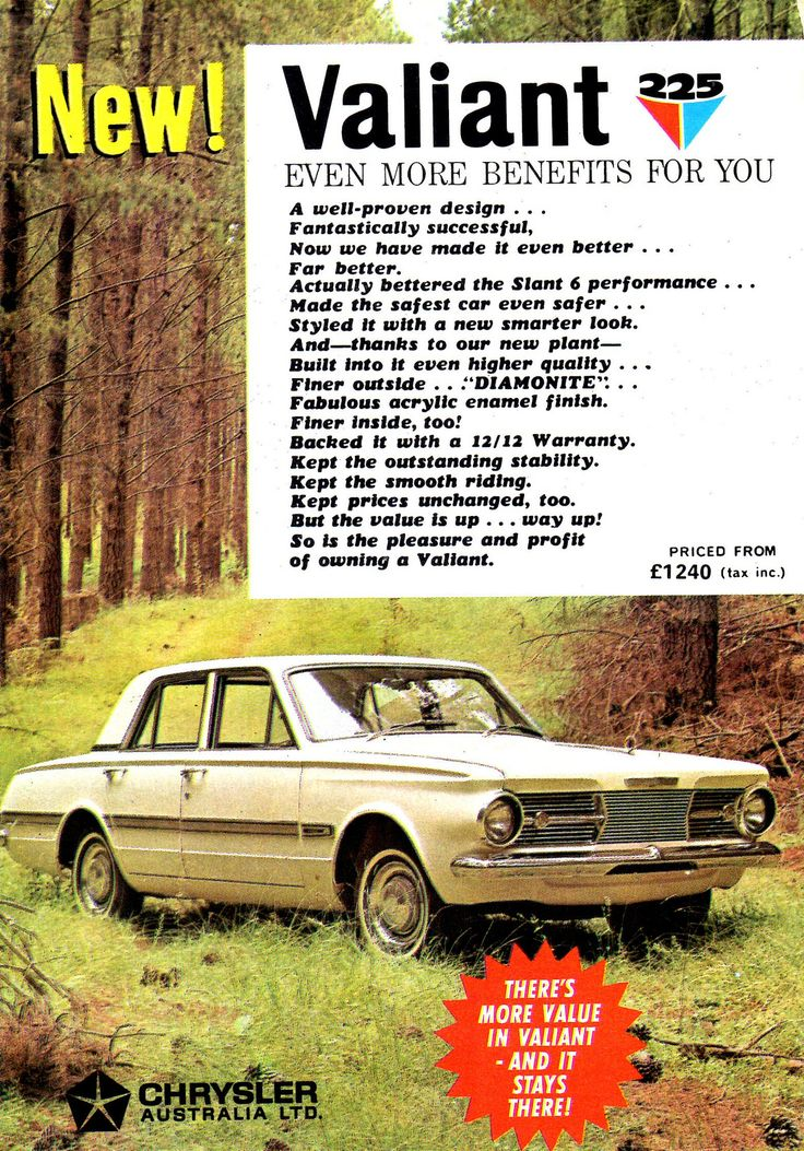 https://flic.kr/p/VxJdgc | 1965 AP6 Chrysler Valiant 225 Sedan Aussie Original Magazine Advertisement