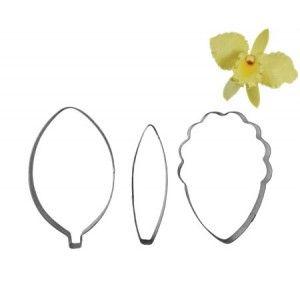 NY Cake Flower Cutter Set - Cattleya Orchid Petal & Leaf Golda's Kitchen