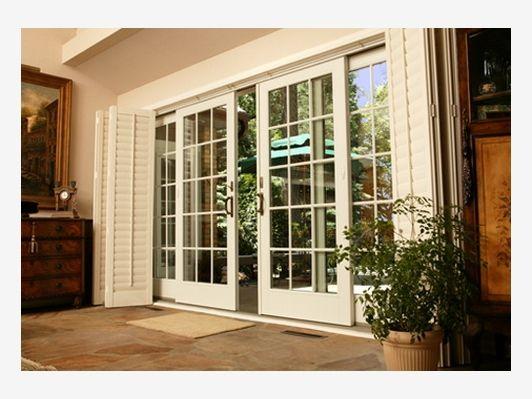 Outside french doors ideas home and garden design ideas for Sliding glass doors garden