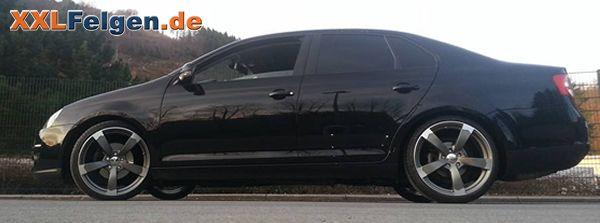 VW Jetta V und 19 Zoll Alufelgen DBV Torino II anthrazit matt