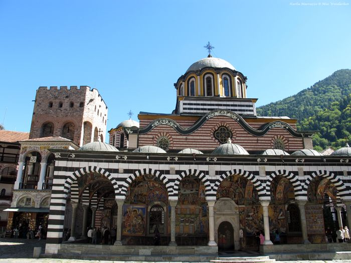The main church at Rila Monastery, a UNESCO World Heritage Site in Bulgaria.