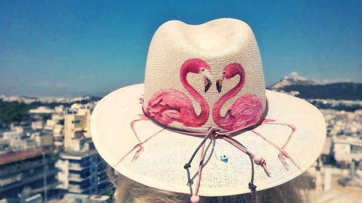 Handmade painted hat..!!!