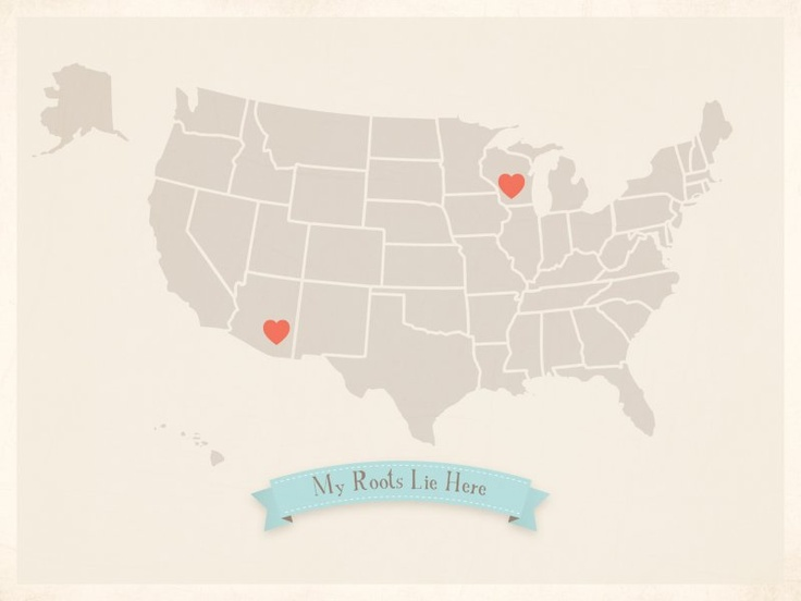 My Roots USA map Children Inspire Design