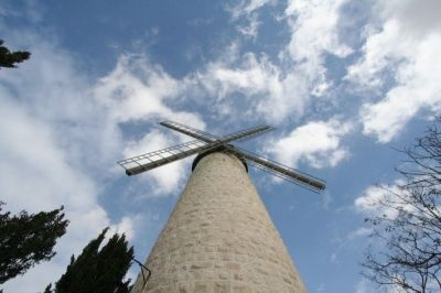 Montefiore Windmill, Yemin Moshe, Jerusalem.  (wide angle lens)