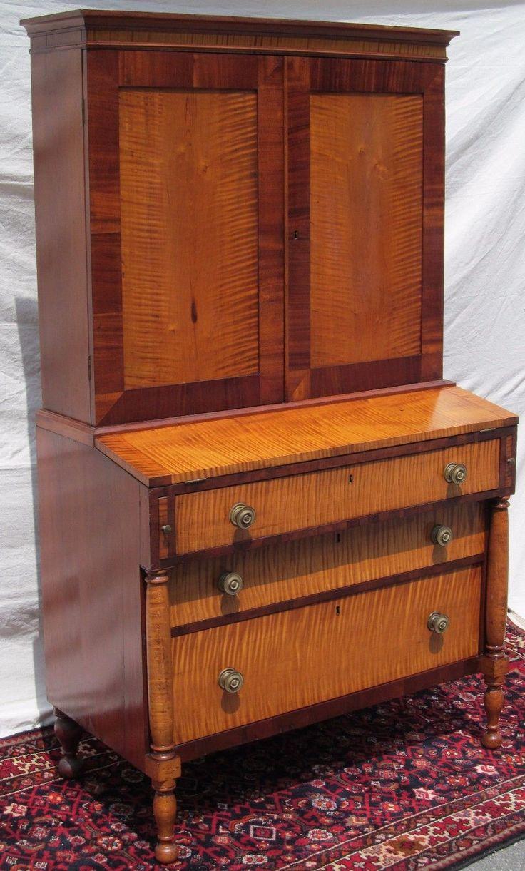 Rare 18th Century Federal Period Tiger Maple Desk Portsmouth New Hampshire. Maple  Furniture ...