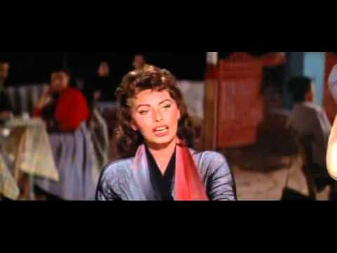 "Lovely Sophia Loren in Hydra island, singing in Greek and dancing ... From the movie 'Boy on a Dolphin"" (1957)... A real gem!"