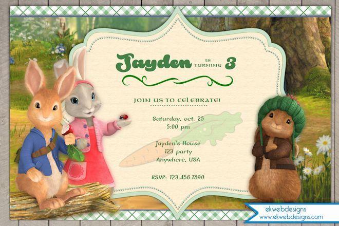 Nick Jr's Peter Rabbit Birthday Invitation - Peter Rabbit Birthday Invitation