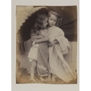 Paul and Virginia by Julia Margaret Cameron, Engalnd, 1864. l Victoria and Albert Museum #Photography