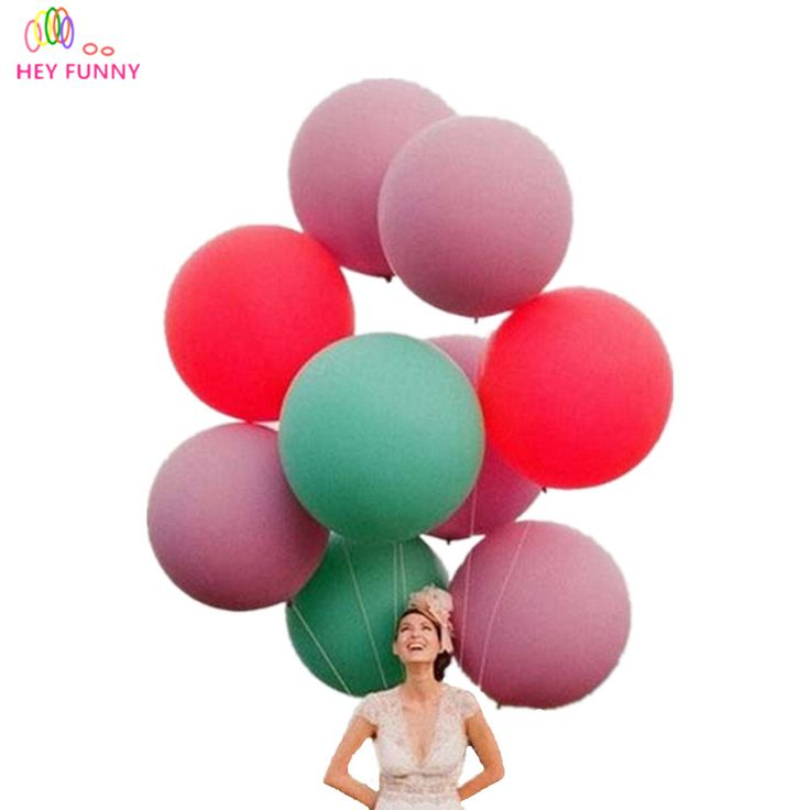 HEY FUNNY 10 pcs/lot 36 Inch Huge Latex Balloons Super Big Round Balloon For Party Birthday wedding Decoration Free Shipping #Affiliate