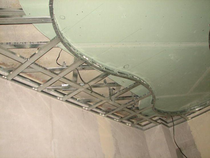 Двухуровневые потолки из гипсокартона (51 фото): технология монтажа http://happymodern.ru/dvuxurovnevye-potolki-iz-gipsokartona-51-foto-texnologiya-montazha/ Последовательность работ с двухуровневыми потолками - сверху вниз