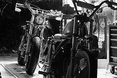 831 (ljblk) Tags: canon honda garage shed workshop motorcycle suzuki custom xr600 40d gs125