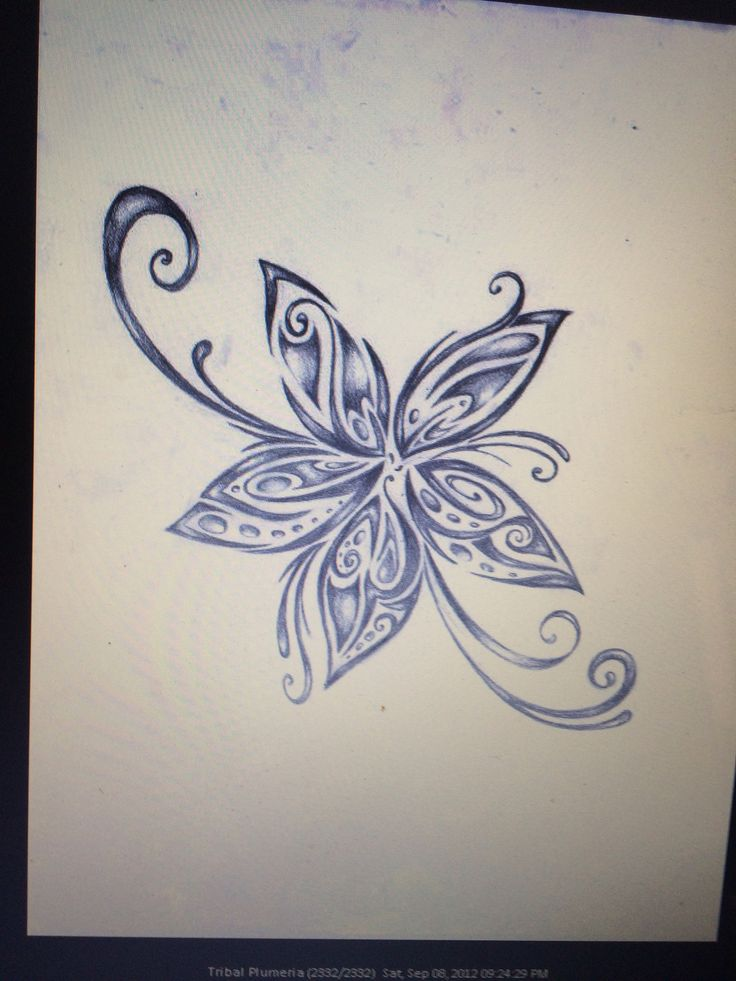 Tribal Plumeria... Great shoulder tatt idea. #Dope #Pretty #Dainty #Feminine