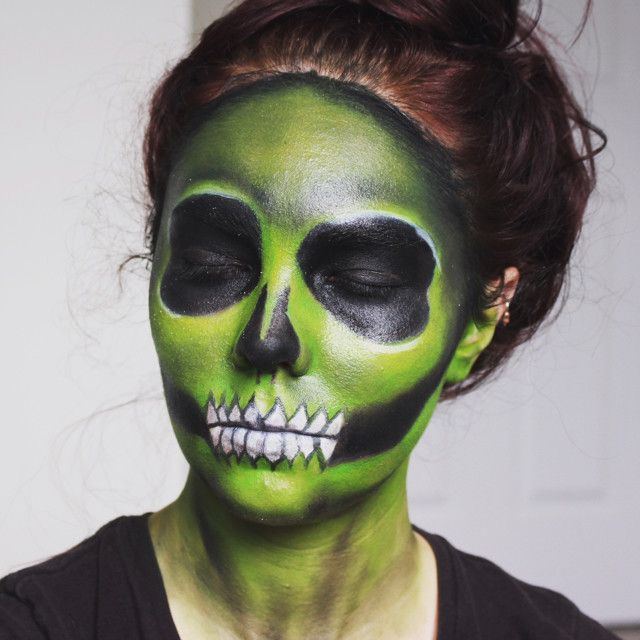 skull makeup by hayleymarier upload your halloween selfie on sephoras beauty board for a chance scary facescharacter - Scary Faces For Halloween With Makeup