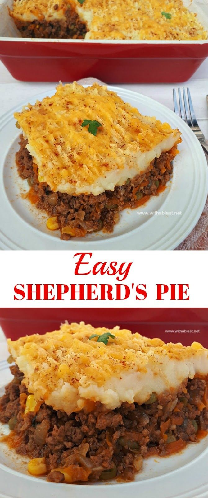 Hearty, vegetable loaded Shepherd's Pie is comfort food ! #ShepherdsPie #CottagePie #ComfortFood