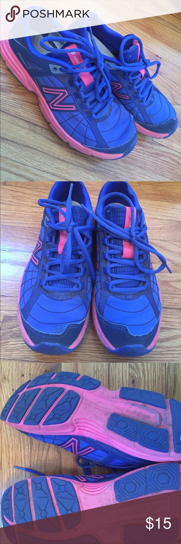 New balance running shoes Barely worn cute new balance workout shoes. I'm not much of a runner, so I've rarely worn these. Good condition and ready to do some laps! New Balance Shoes Sneakers