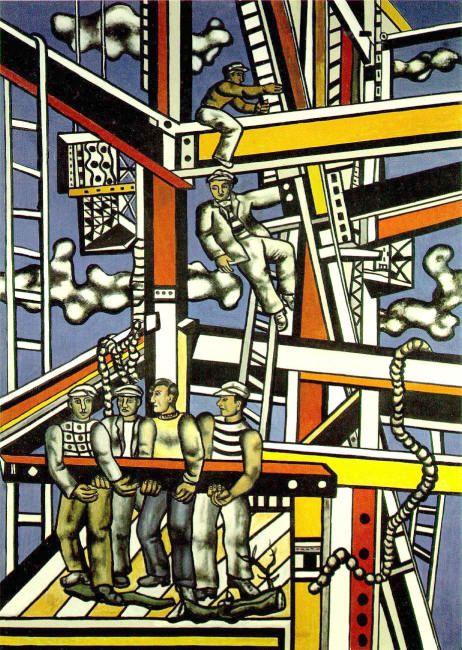 Working for a new city: Fernard Léger, The Builders, 1950.