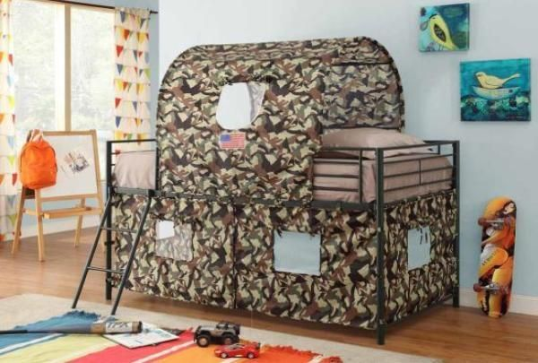 Camouflage Tent Loft Bed Bed Tent Low Loft Beds Twin Bunk Beds