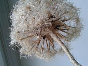 Как сделать одуванчик из джутового шпагата - Ярмарка Мастеров - ручная работа, handmade